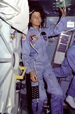 Mission Specialist (MS) Sally Ride, first American woman in space | NASA Missions and Milestones in Space Flight