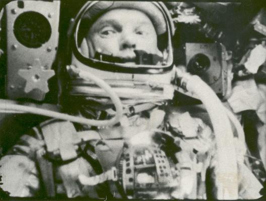 Astronaut John Glenn photographed in space | NASA Missions and Milestones in Space Flight