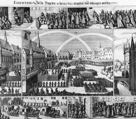 Executions in Staromestske Square, Prague in 1621