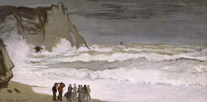 Rough Sea at Etretat, 1868-69