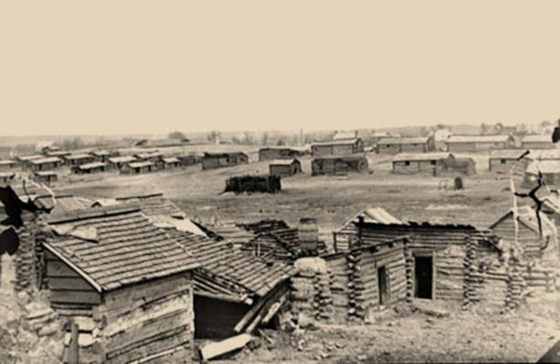 A South View Of The Confederate Winter Quarters In Centreville, Va | Ken Burns: The Civil War
