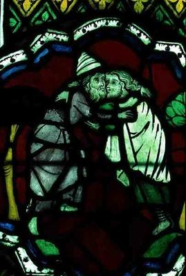 Window thought to depict Abraham and Melchizedeck, 13th century