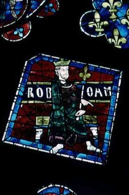 King Roboham, detail from the north rose window, c.1223
