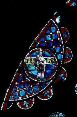 A prophet, detail from the north rose window, c.1223