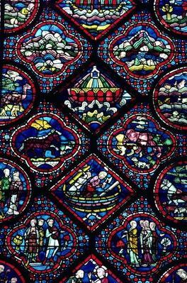 Noah's Ark window, 13th century