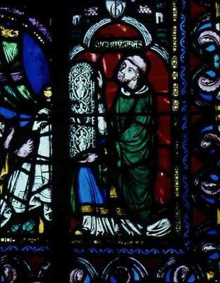 The Tree of Jesse Window, detail depicting Abbot Suger