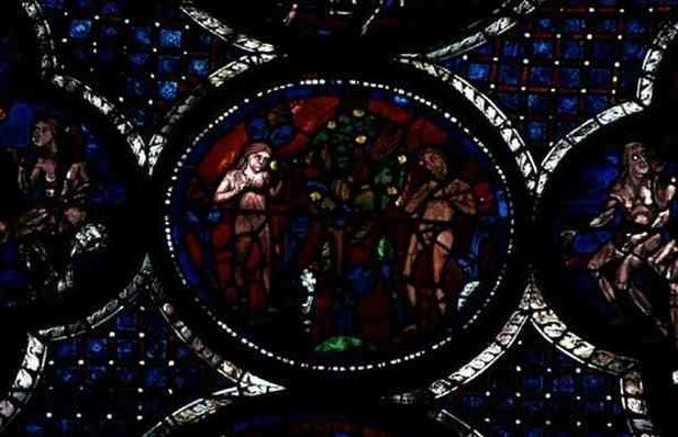 Adam and Eve, 13th century