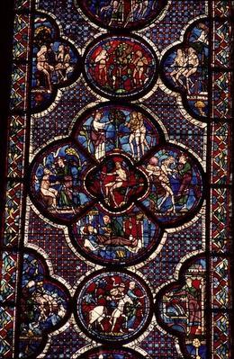 Adam and Eve window, 13th century