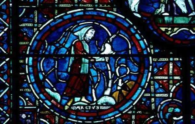 Aries, from the zodiac window, 13th century