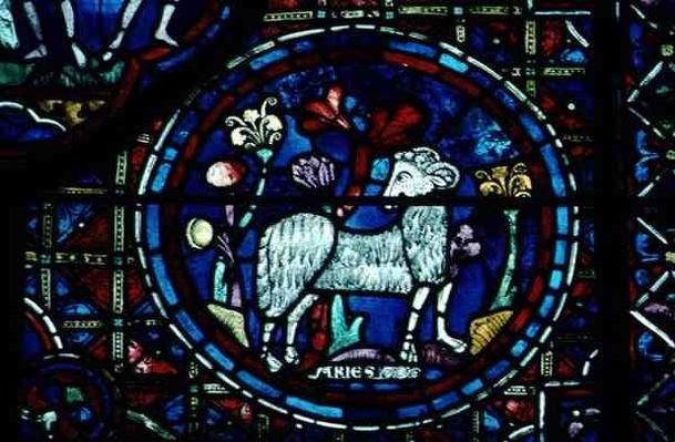Aries, from the zodiac window, 13th century