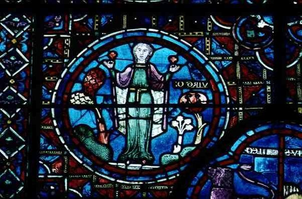 Virgo, from the Zodiac Window, 13th century