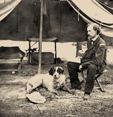 Lieutenant George A. Custer With Dog | Ken Burns: The Civil War
