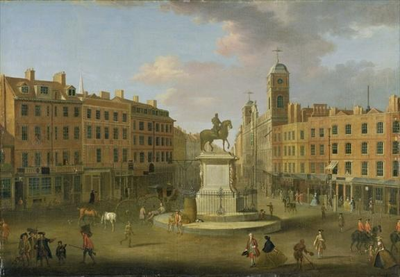 Charing Cross, with the Statue of King Charles I and Northumberland House, c.1750