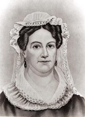 Rachel Jackson, from 'The Ladies of the White House' by Laura Carter Holloway Langford, engraved by John Chester Buttre (1821-93), c.1883 (engraving) (b/w photo) by American School, (19th century)