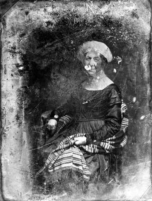 Dolley Madison, 1848 (daguerreotype) by Brady, Mathew (1823-96)