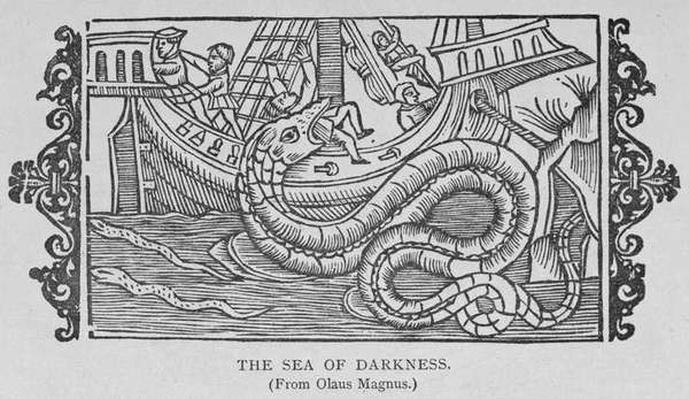 The Sea of Darkness, from a book by Olaus Magnus