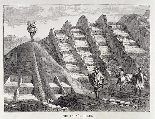 The Inca's Chair, from 'Incidents of Travel and Exploration in the Land of the Incas' by E. George Squier, pub. in 1878