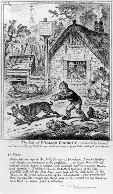 Plate 1, from 'The Life of William Cobbett', written by himself, pub. by H. Humphrey, 1809