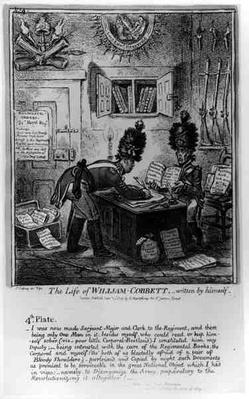 Plate 4, from 'The Life of William Cobbett', written by himself, pub. by H. Humphrey, 1809