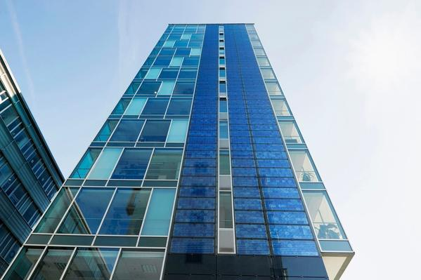 High-Rise Building With Photovoltaic Panels, Germany | Earth's Resources