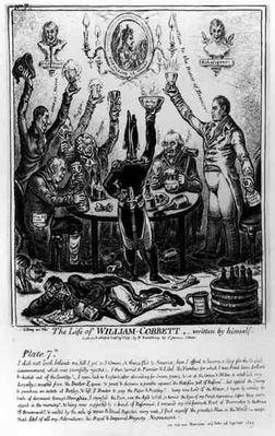 Plate 7, from 'The Life of William Cobbett', written by himself, pub. by H. Humphrey, 1809