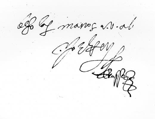 Signature of Lady Jane Grey