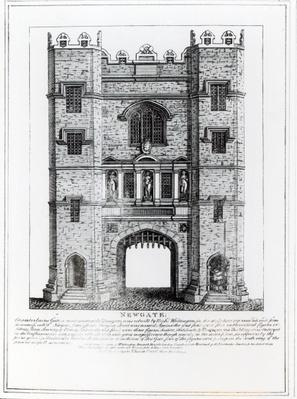 Newgate, London, pub. 1761