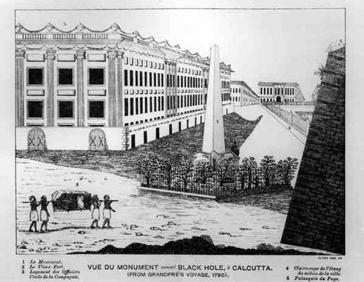 View of the Black Hole of Calcutta Monument, from 'Grandpre's Voyage, 1790'