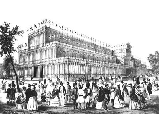 View of the Exterior of the Crystal Palace, built for the Great Exhibition of 1851