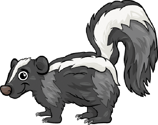 Skunk Animal: Cartoon Illustration | Clipart