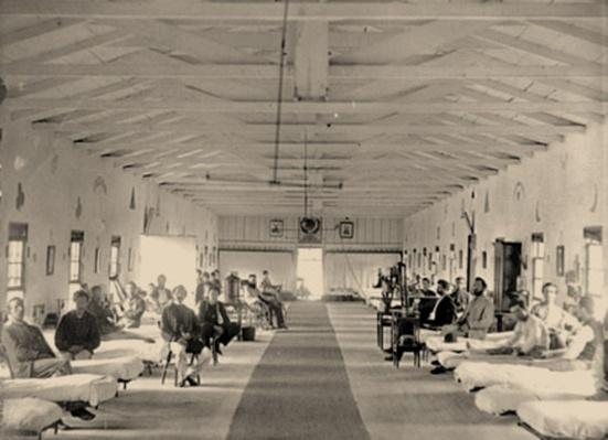 Patients in Ward K of Armory Square Hospital | Ken Burns: The Civil War