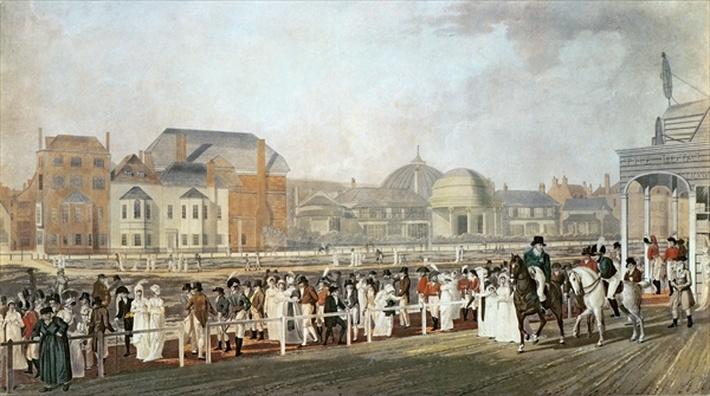 Brighton: The Old Pavilion and Steyne engraved by Charles Richards