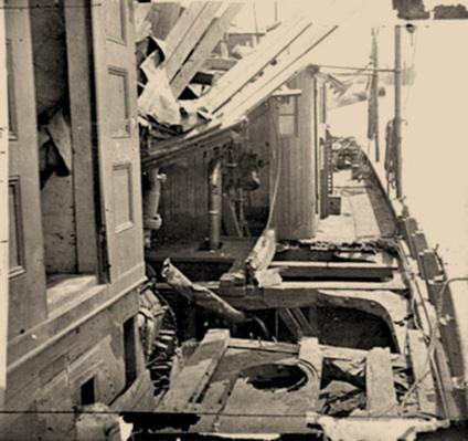 Damaged Confederate Gunboat | Ken Burns: The Civil War