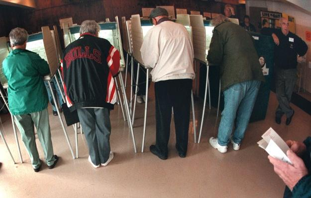 Cook County, Illinois Voters Cast Their Ballots for President | U.S. Presidential Elections: 2000