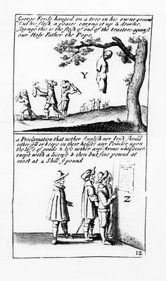 Irish Catholics torturing English Protestants rebels