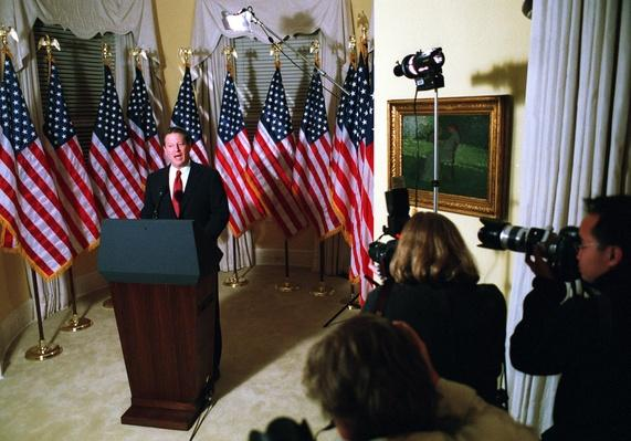 Vice President Al Gore Announces He Will Challenge the Florida Election Results | U.S. Presidential Elections: 2000