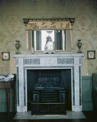 Fireplace and mirror, c.1810