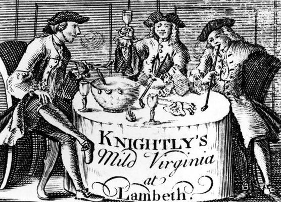Advertisement for 'Knightly's Mild Virginia at Lambeth'