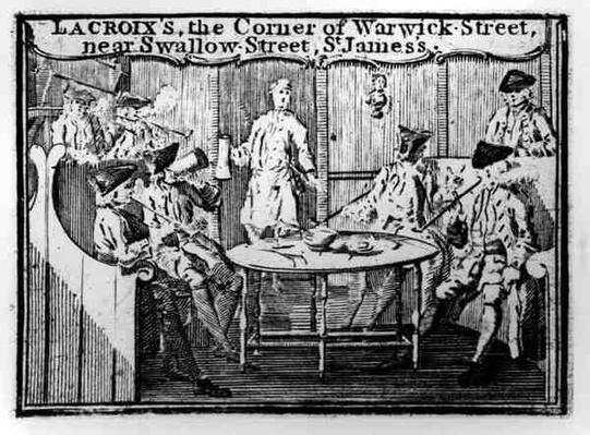 Advertisement for 'Lacroix's, the Corner of Warwick Street, near Swallow Street, St James's'