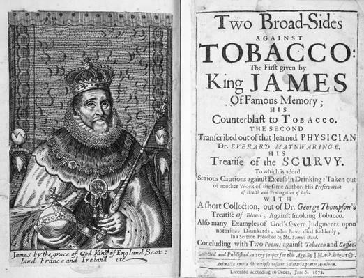 Frontispiece to 'Two Broadsides Against Tobacco', pub. 6th June 1672