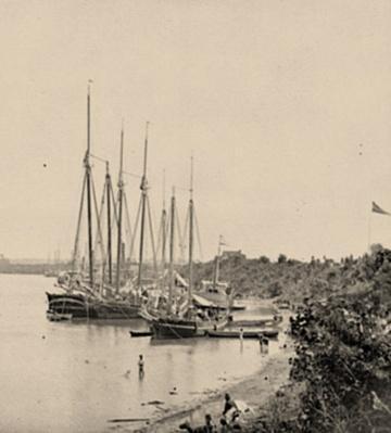 Union Supply Vessels at White House Landing, VA | Ken Burns: The Civil War