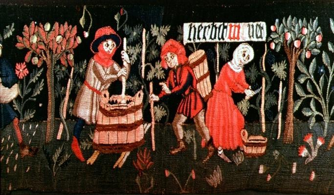 The Labours of the Months, from Alsace, mid 15th century