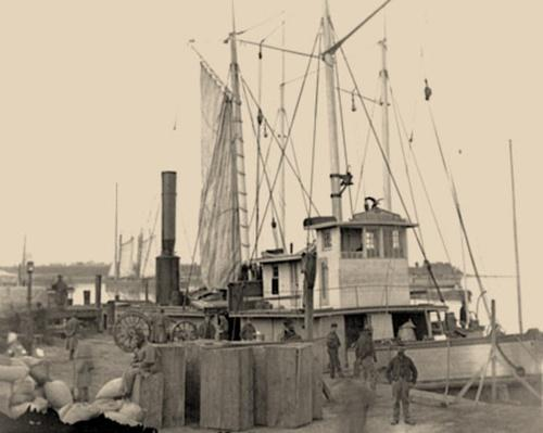 Wharf with Transport and Supplies | Ken Burns: The Civil War