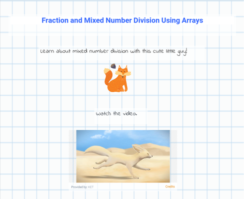 Fraction and Mixed Number Division Using Arrays