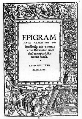The Camp of the Barbarous King, Epigrams of Thomas More