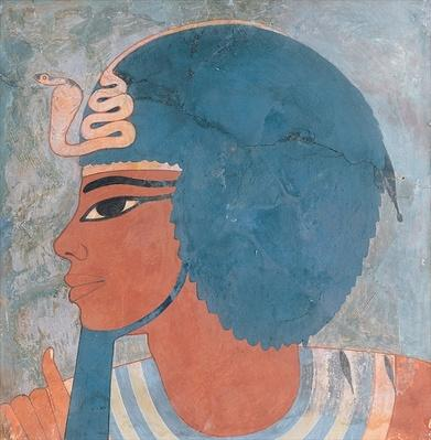 Head of Amenophis III from the tomb of Onsou, 18th Dynasty, 1550-1295 BC