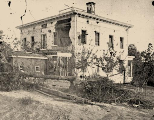 The Shell-Damaged Ponder House in Atlanta, Georgia | Ken Burns: The Civil War