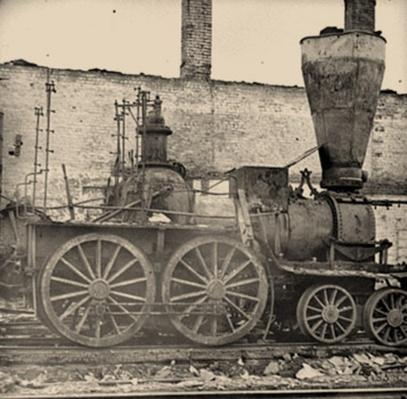 Damaged Locomotives in Richmond, VA | Ken Burns: The Civil War