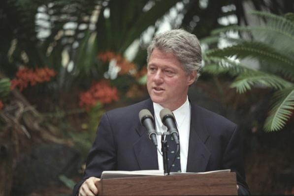 Clinton Delivering an Earth Day Speech