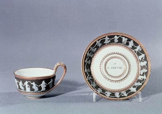 Meissen cup and saucer, late 18th century